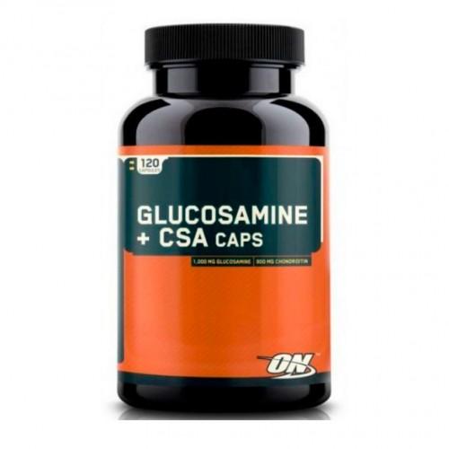 Средство для хрящевых тканей Glucosamine+CSA 120 таблеток от Optimum Nutrition.