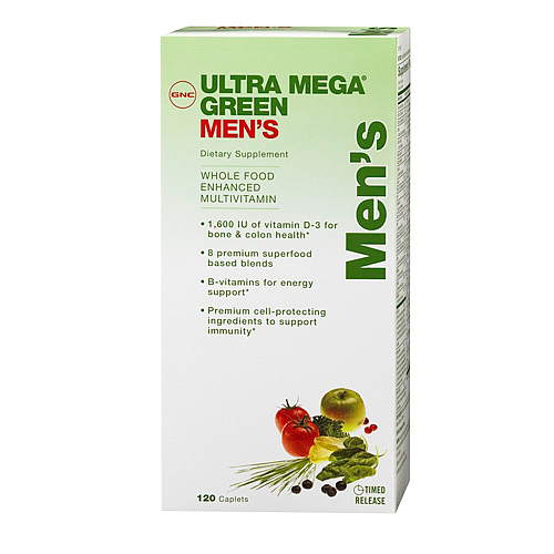 Витамины GNC Ultra Mega Green Mens 120 капсул