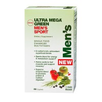 Витамины GNC Ultra Mega Green Mens Sport 60 капсул