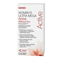 Витамины GNC Women's Ultra Mega Active Without Iron 180 каплет