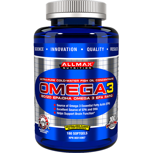 AllMax Nutrition OMEGA 3 180 капсул