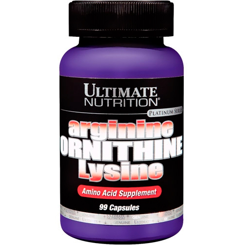 Аминокислоты Аrginine ORNITHINE Lysine 100 капсул от Ultimate Nutrition