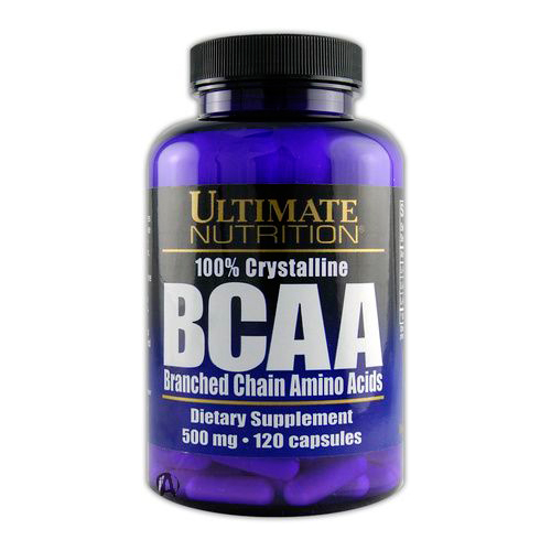Аминокислоты BCAA 500 mg 120 капсул от Ultimate Nutrition