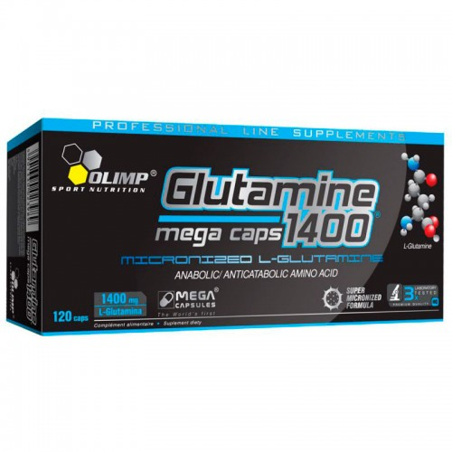 Глютамин Olimp Glutamine 1400 mega caps 120 капсул