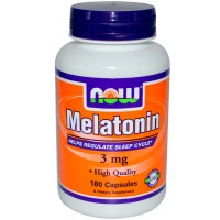 NOW Melatonin 3 мг 180 капсул