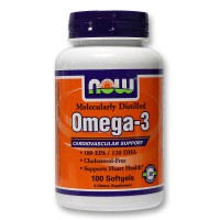 NOW Omega-3 100 капсул