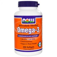 NOW Omega 3 200 капсул