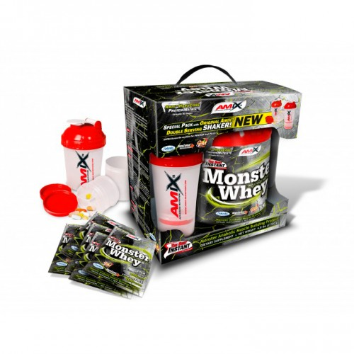 Сывороточный протеин Amix Anabolic Monster Whey 2 кг BOX with Monster Shaker