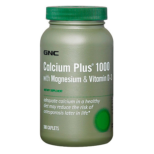 GNC Calcium Plus 1000 with Magnesium & Vitamin D-3 180 таблеток