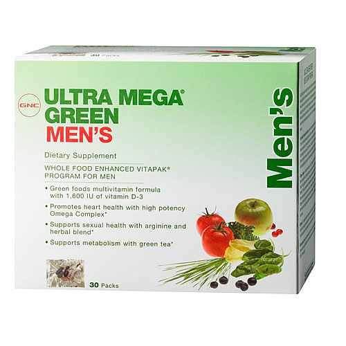 Витамины GNC Ultra Mega Green Mens 30 paks